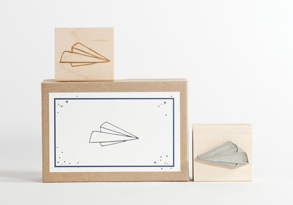 Paper Airplane Stamp