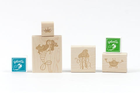 Mermaid Rubber Stamp Kit