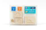 Dinosaur Rubber Stamp Kit