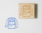 To From Christmas Sweater Stamp