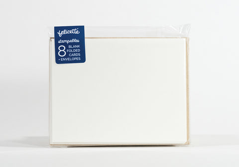 Eight Blank Folded Cards & Envelopes