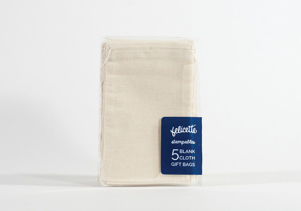 Five Blank Cotton Bags
