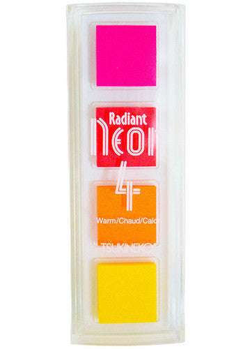 Radient Neon 4 Color Inkpads