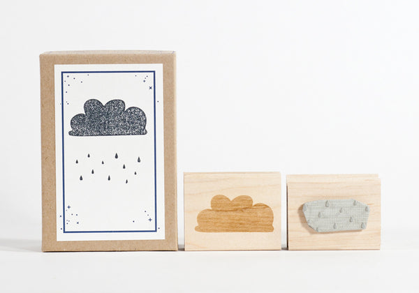 Cloud & Rain Stamp Set