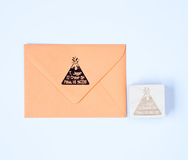 Volcano Address Stamp