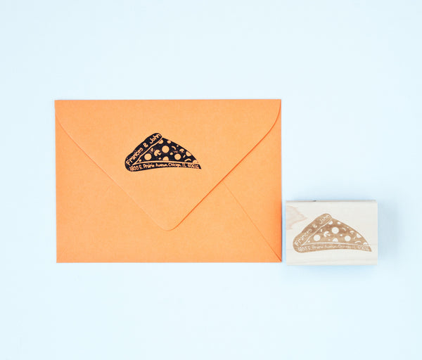 Pizza Return Address Stamp