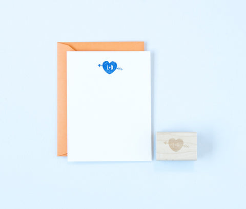 Heart & Arrow Initials Stamp