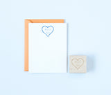 Heart & Names Outline Stamp