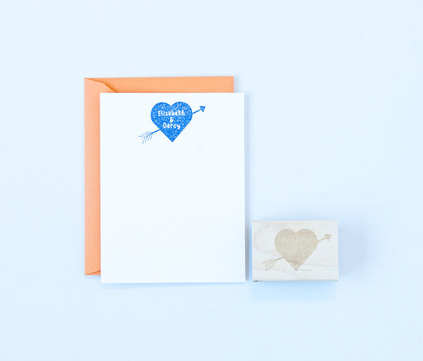 Heart & Arrow Names Stamp