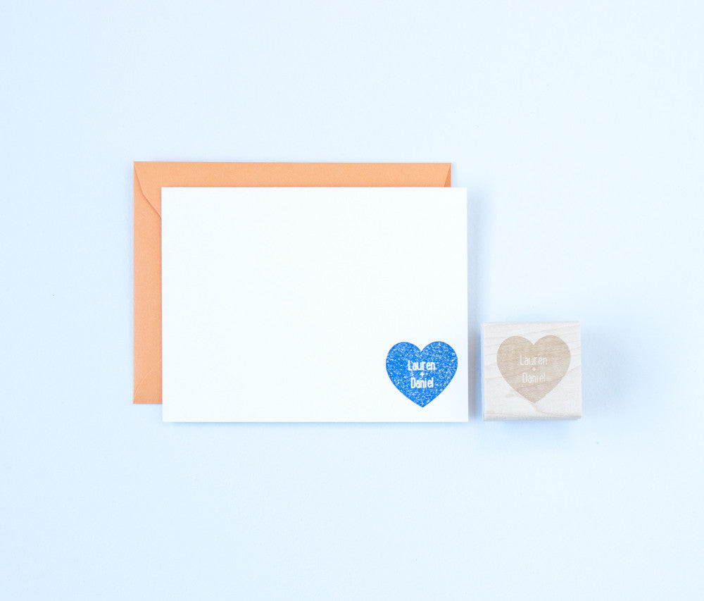 Heart & Names Solid Stamp