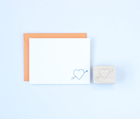 Heart & Arrow Stamp
