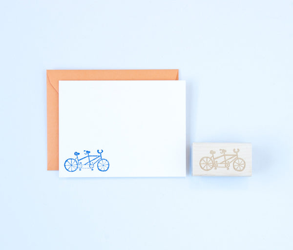 Tandem Bicycle Stamp
