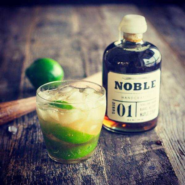 Featured Cocktail: Caipirinha with Noble Tonic 01, Bourbon Barrel Maple Syrup