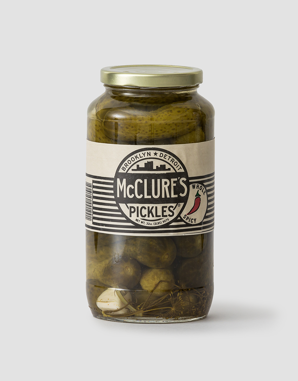 McClure's Pickles Whole Spicy Pickles 907g
