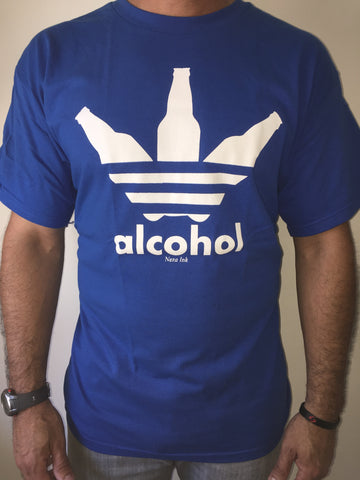 ALCOHOL BLUE T-SHIRT