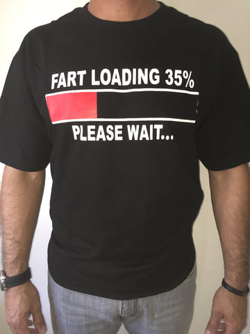 FART LOADING BLACK T-SHIRT