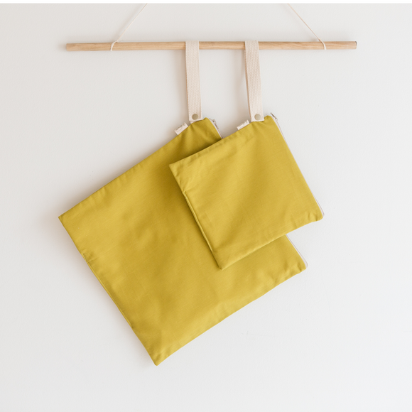 Organic Cotton Wet + Dry Bag / Desert Grass