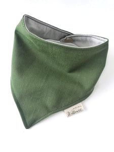 Reversible Two Tone Organic Cotton Bandana Bib / Aloe