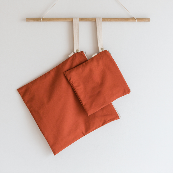 Organic Cotton Wet + Dry Bag / Terra Cotta