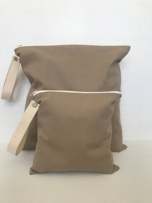 Organic Cotton Wet + Dry Bag / Driftwood