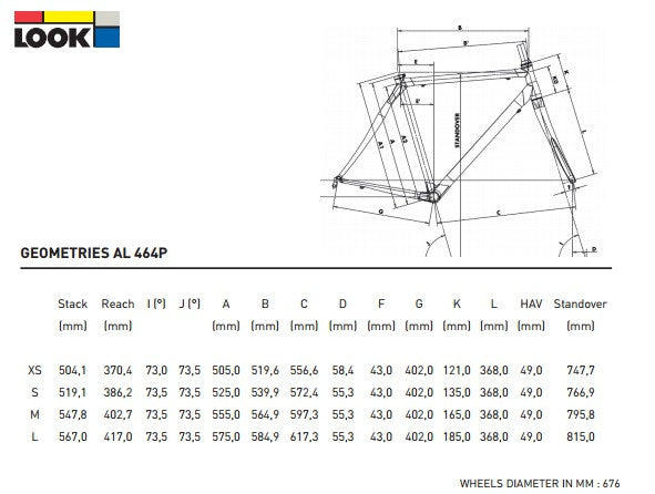 LOOK 464 TRACK FRAME MEDIUM