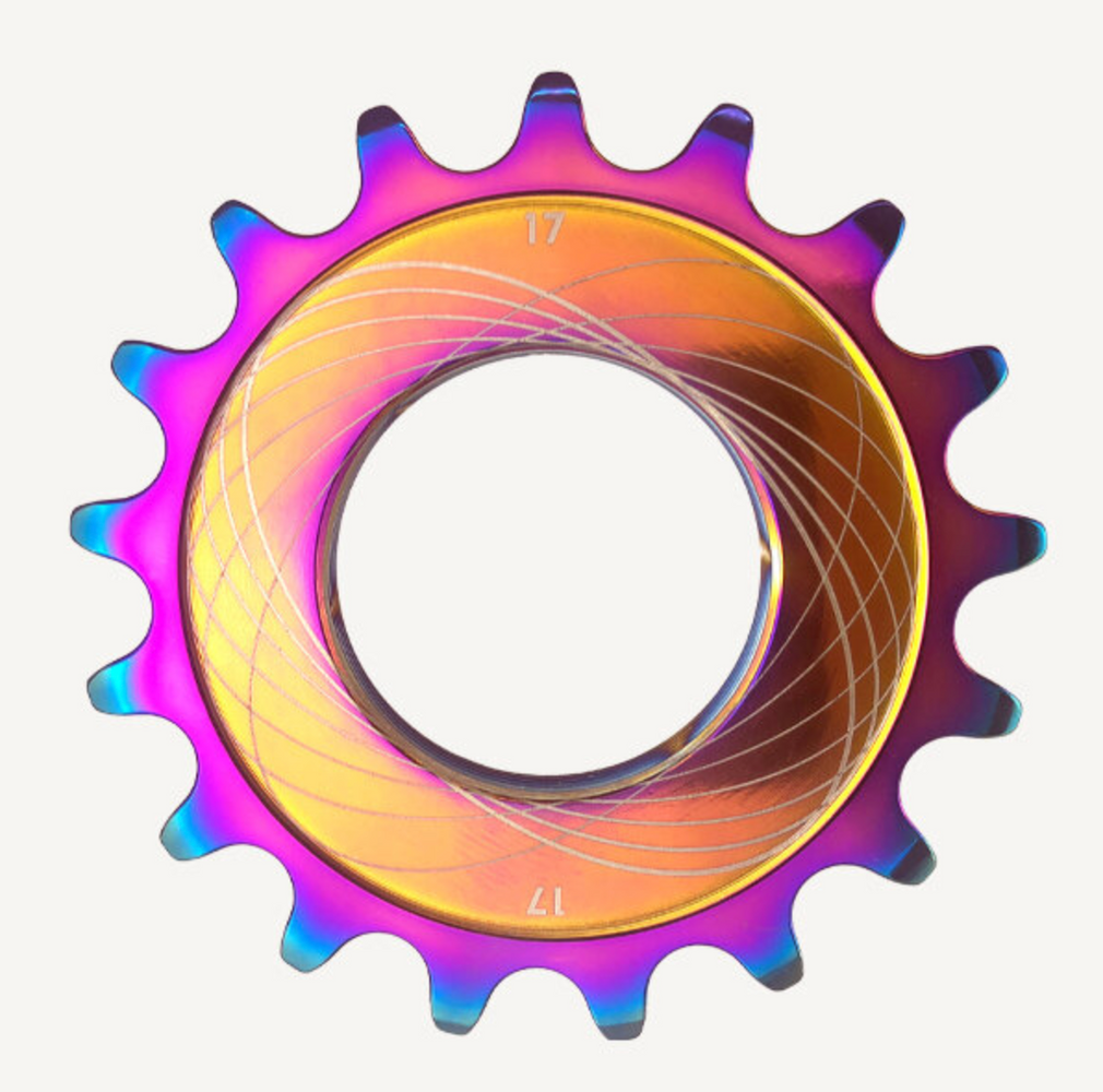 Titanium Oil Slick Coated Track Cog