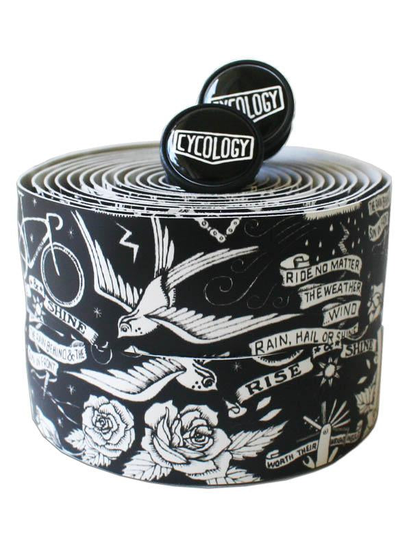 Velo Tattoo (Black) Handlebar Tape