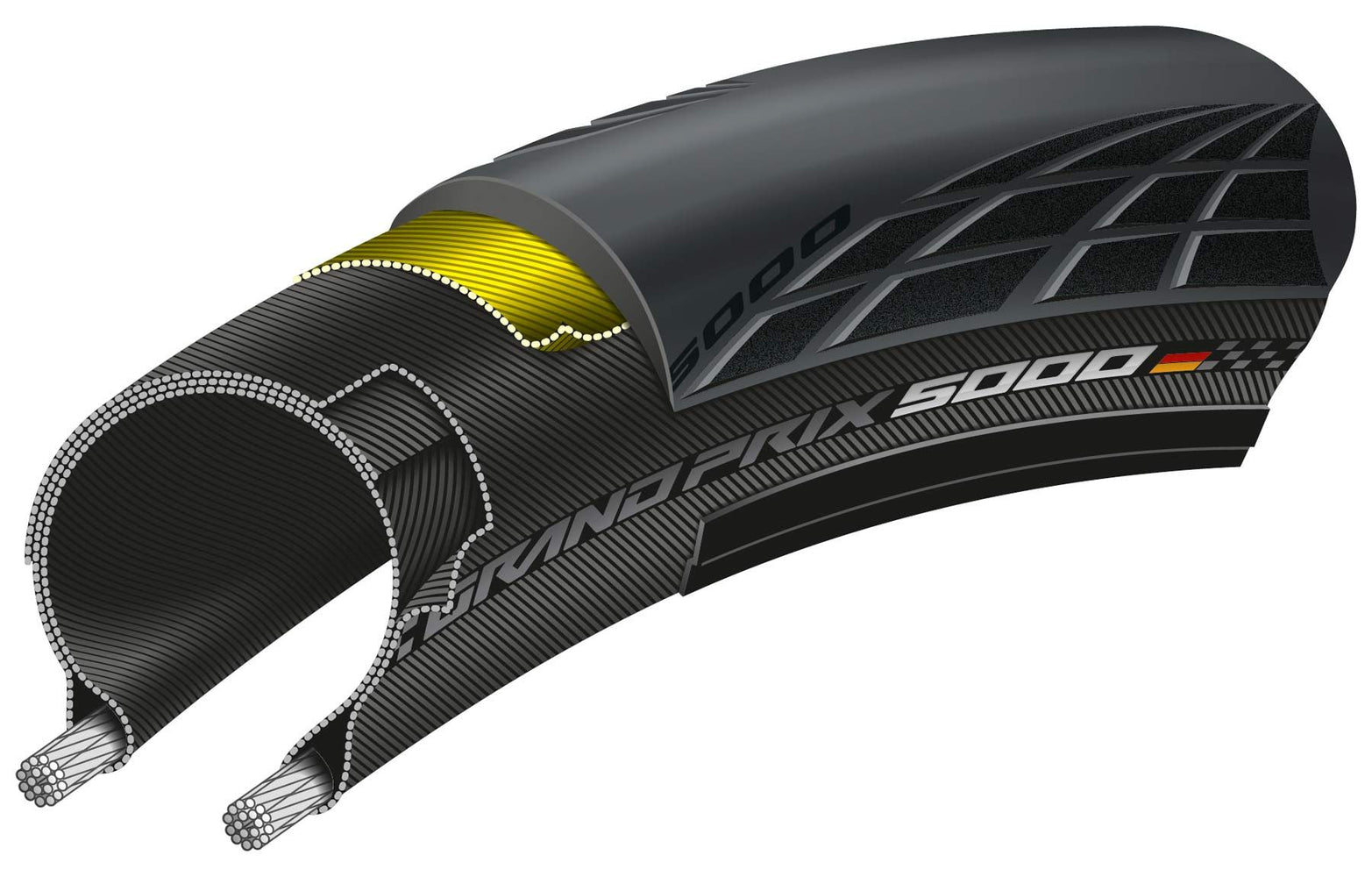 Continental Grand Prix GP5000 Folding Road Tyre Clincher