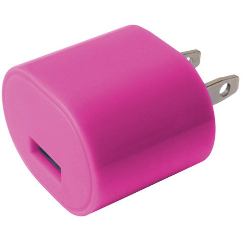 IESSENTIALS IE-AC1USB-PK 1-Amp USB Wall Charger (Pink)