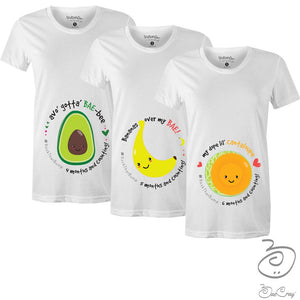 Bae Cray Fruit of My Womb Pregnancy Milestone T-Shirts -Trimester Bundles