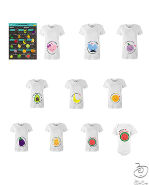 Fruit of My Womb Pregnancy Milestone Tee's