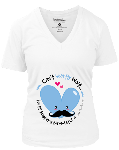 Gender Reveal Party- It's A Boy-Mister Mustache- Monthly Pregnancy Milestones-Pregnancy Timeline-Maternity Tee