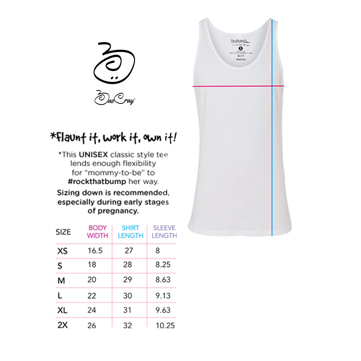 ... 4 Months/16 Weeks Pregnant-Monthly Pregnancy Milestones-Maternity  Tank-Baby Shower ...