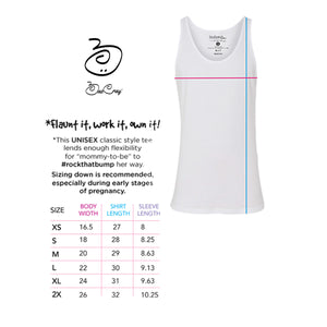 4 Months/16 Weeks Pregnant-Monthly Pregnancy Milestones-Maternity Tank-Baby Shower Gift- 2nd Trimester