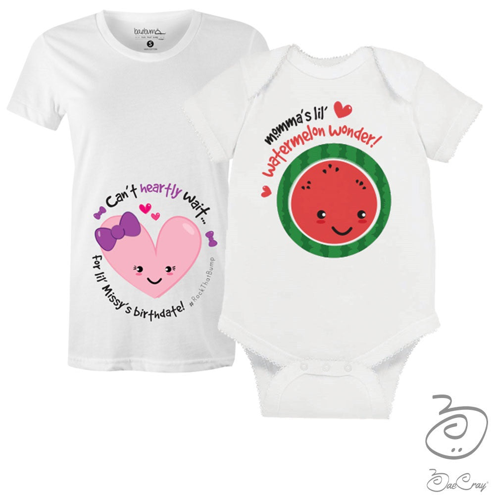 Bae Cray-Pregnancy Milestones-Gender Reveal- GIRL- Maternity T-Shirt Bundle