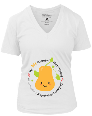 8 Months/32 Weeks Pregnant-Monthly Pregnancy Milestones-Maternity Tee-Baby Shower Gift- 3rd Trimester