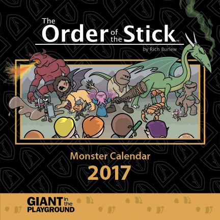 Order of the Stick 2017 Monster Calendar