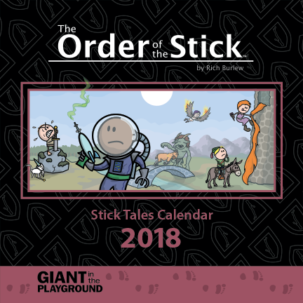 Order of the Stick 2018 Stick Tales Calendar