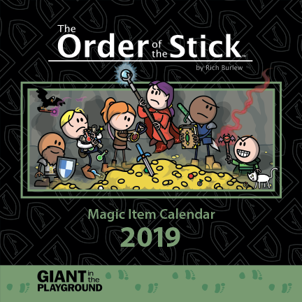 Order of the Stick 2019 Magic Item Calendar Scratch and Dent