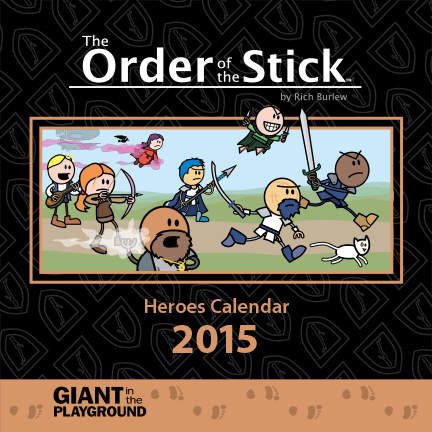 Order of the Stick 2015 Heroes Calendar Scratch and Dent