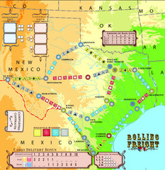 Rolling Freight Texas Map