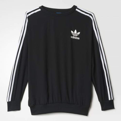 adidas Originals Womens Light Crepe 3 Stripes Sweatshirt
