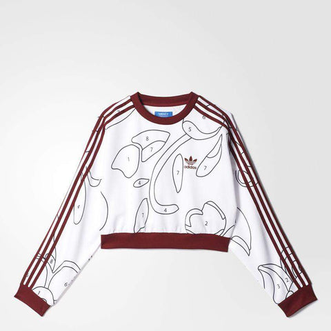 adidas x Rita Ora Womens Paint by Numbers Cropped Sweatshirt