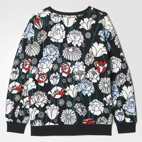 adidas Originals Womens Floral Trefoil Sweater