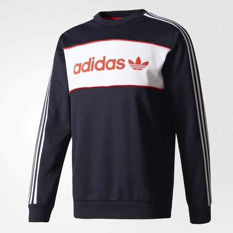 adidas Originals Mens Block Crew Sweatshirt