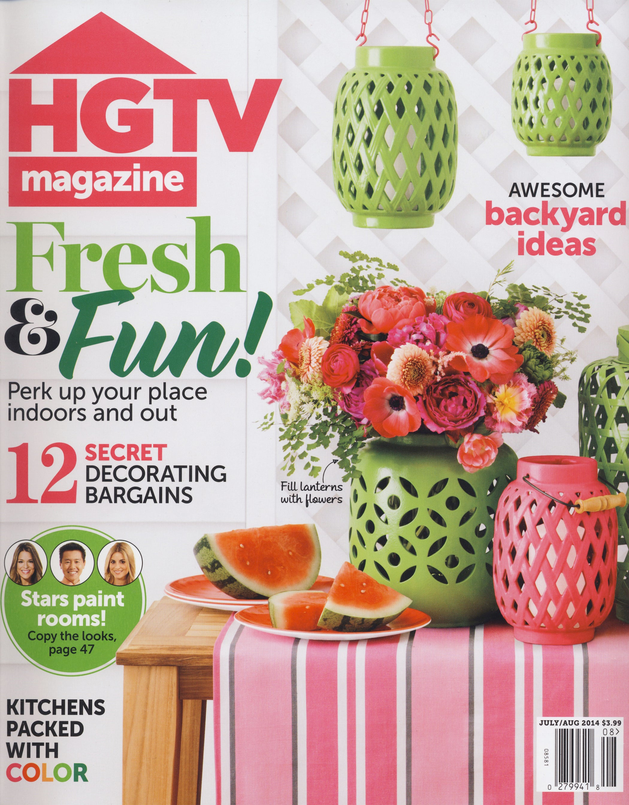 HGTV Magazine, July/Aug 2014