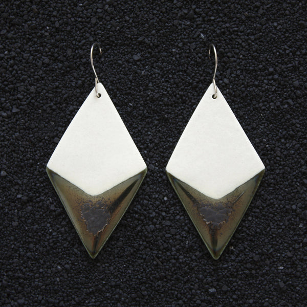 Diamond Earrings / Lagoon - Corbé Company - handmade - ceramics - 1