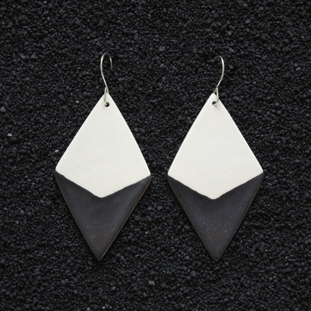 Diamond Earrings / Smoky Earth