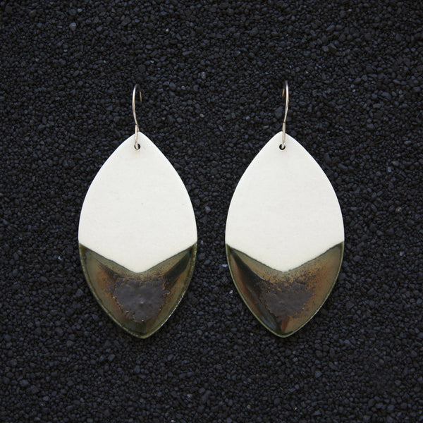 Leaf Earrings / Lagoon - Corbé