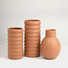 Tall Ridge Vase / Toast - Corbé